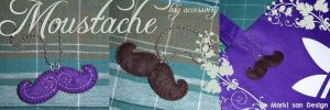 Moustache bag accessoiry by Marki-san-Design