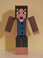 Minecraft Papercraft - Daniel from Amnesia by x0xChelseax0x