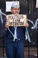 Protesting man by anahuac
