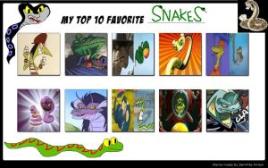 Top 10 Favorite Snakes by julayla