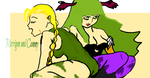 Morrigan and Cammy by TheRainHasCleared