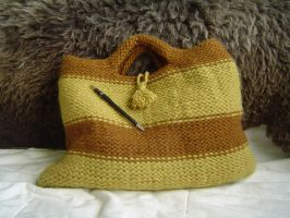 knitted bag by were-were-wolfy