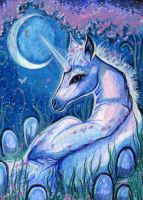 ACEO - Moonglow by DawnUnicorn