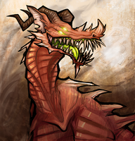 Crag Monster by Rosemary-the-Skunk