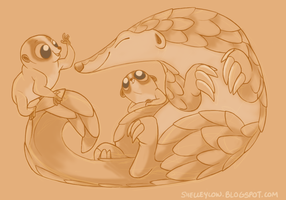 Pangolin Day by shelzie