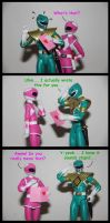 Pink Crush ft. Green Ranger by spongejan