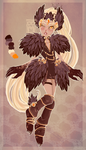 Feathery adopt : closed : by BlackMayo