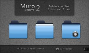 MURO AZZURRO  folders  2 by GuillenDesign