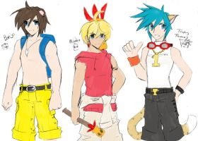BK sketches: Blue Eyed Boys by anime-dragon-tamer