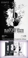 Black and White Musical Party Flyer by Cata05