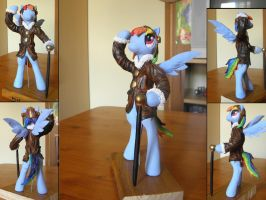 Pilot Rainbow Dash sculpture by RetardedDogProductns