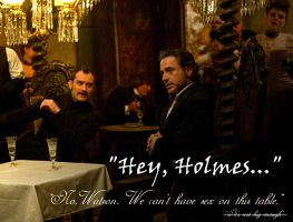 Hey Holmes by cavatappimonster