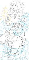 Avatar Korra Lineart by SarahSoak