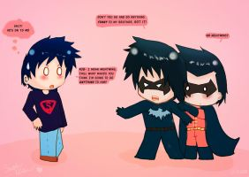 Young Justice - Protective Big Brother Nightwing by ThatChickWithDaPony