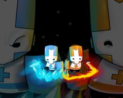 Castle Crashers Ice and Fire by ZeyJin
