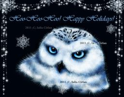 Happy Holidays from Snowy ... or Hedwig. by classicfan