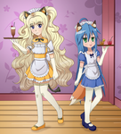 PC - SeeU and Konata maids by FloisonKeya