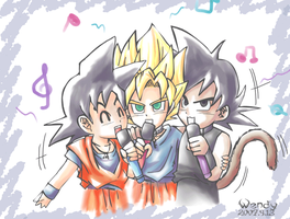 three singing by kotenka1984