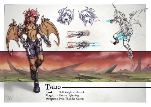 Character File - Talio by Maxa-art