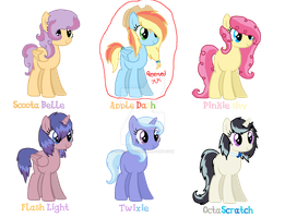 MLP - Adoptables - Random Shipping DTA by cheesepuff2