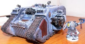 Space Wolves Land Raider by Blue-Lupus
