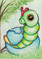 010 # Caterpie by Miz-Miu