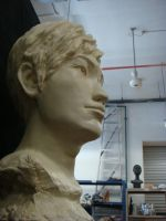 Sculpture Boy Head by granet