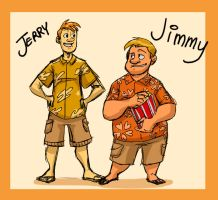 VT: Human Jimmy and Jerry by Crispy-Gypsy