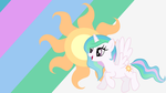 - Filly Princess Celestia Wallpaper - by Ponyphile