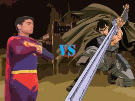 Superman VS Guts by badger4r