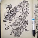 Lab Time 3 Dragon Roll by MarcosMachina