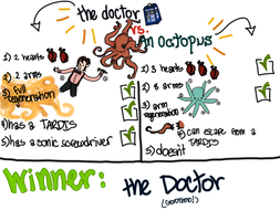 the Doctor vs. an octopus by pixel-Inked