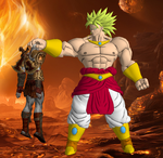 Broly Beats Kratos by WOLFBLADE111