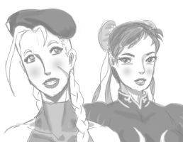Cammy and Chun Faces by Marvsamune