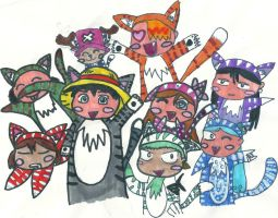 my one piece cats by zorosky