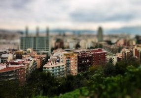 Barcelona Tilt-shift by cheyrek