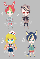 Adoptable Batch 4 [CLOSED] by Dehybi-Adopts