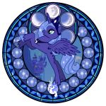 Stained Glass: Luna WIP by Akili-Amethyst