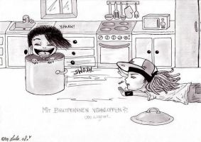 Bill and Tom: Bratpfannen by NovemberHasCome