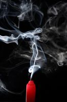 candle smoke by Sbojnik