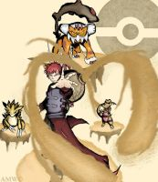 Gaara, The Pokemon Master of The Sand by AveryMoneco