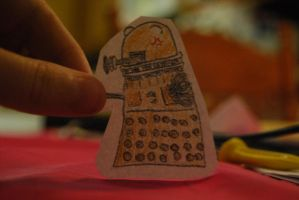 Dalek paper child by tigercat070
