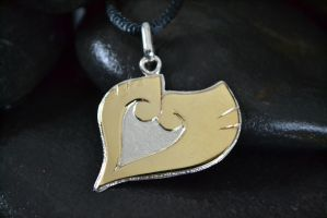Heart Gold Pokemon Pendant by Silverthink