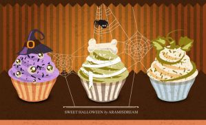 Halloween Cupcakes by Aramisdream