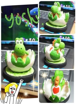 Yoshi and Egg by ikkittebayo