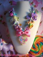 Pastel Rainbow Charm Necklace by lessthan3chrissy