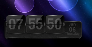 Black Metal Clock 1.0 by drakulaboy