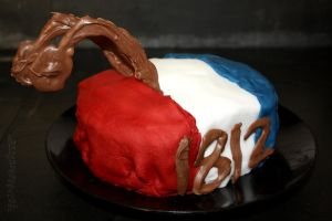 Farscape 1812 DRD Cake by claremanson