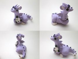Dragon with a Panda plush by KriannaCrafts