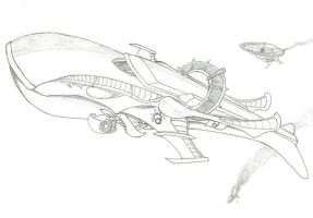 Skyship 2 Pencils by Punslinger